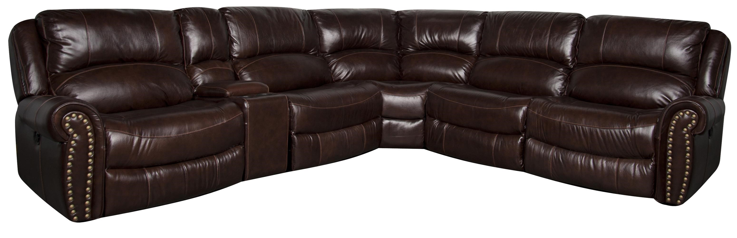 Morris Home Furnishings Fleming Fleming Leather-Match* PWR Sectional - Item Number: 134229195