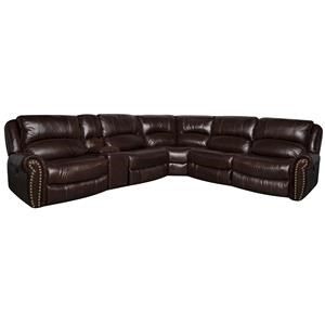 Morris Home Furnishings Fleming Fleming Leather-Match* PWR Sectional