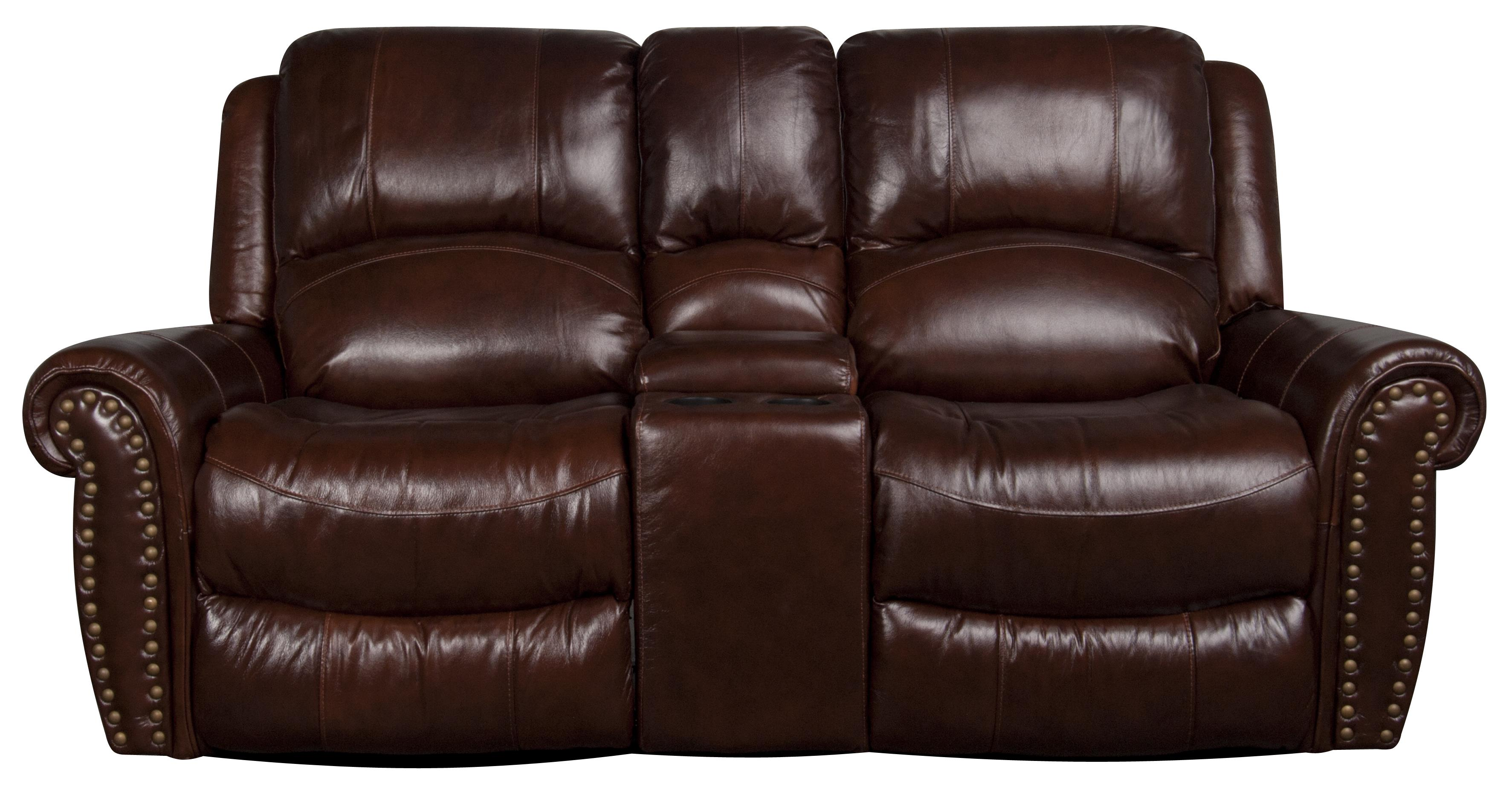 Morris Home Furnishings Fleming Fleming Leather-Match* Reclining Loveseat - Item Number: 134277065