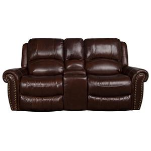 Morris Home Furnishings Fleming Fleming Leather-Match* Reclining Loveseat