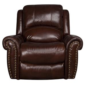 Morris Home Furnishings Fleming Fleming Leather-Match* Glider Recliner