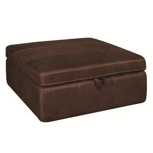 Morris Home Furnishings Gary Gary Storage Ottoman with Casters