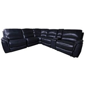 Morris Home Hartley Hartley Power Leather Match Sectional