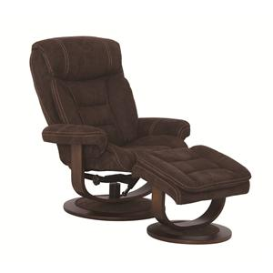 Cheers Sofa K822 Contemporary Recliner and Ottoman Set