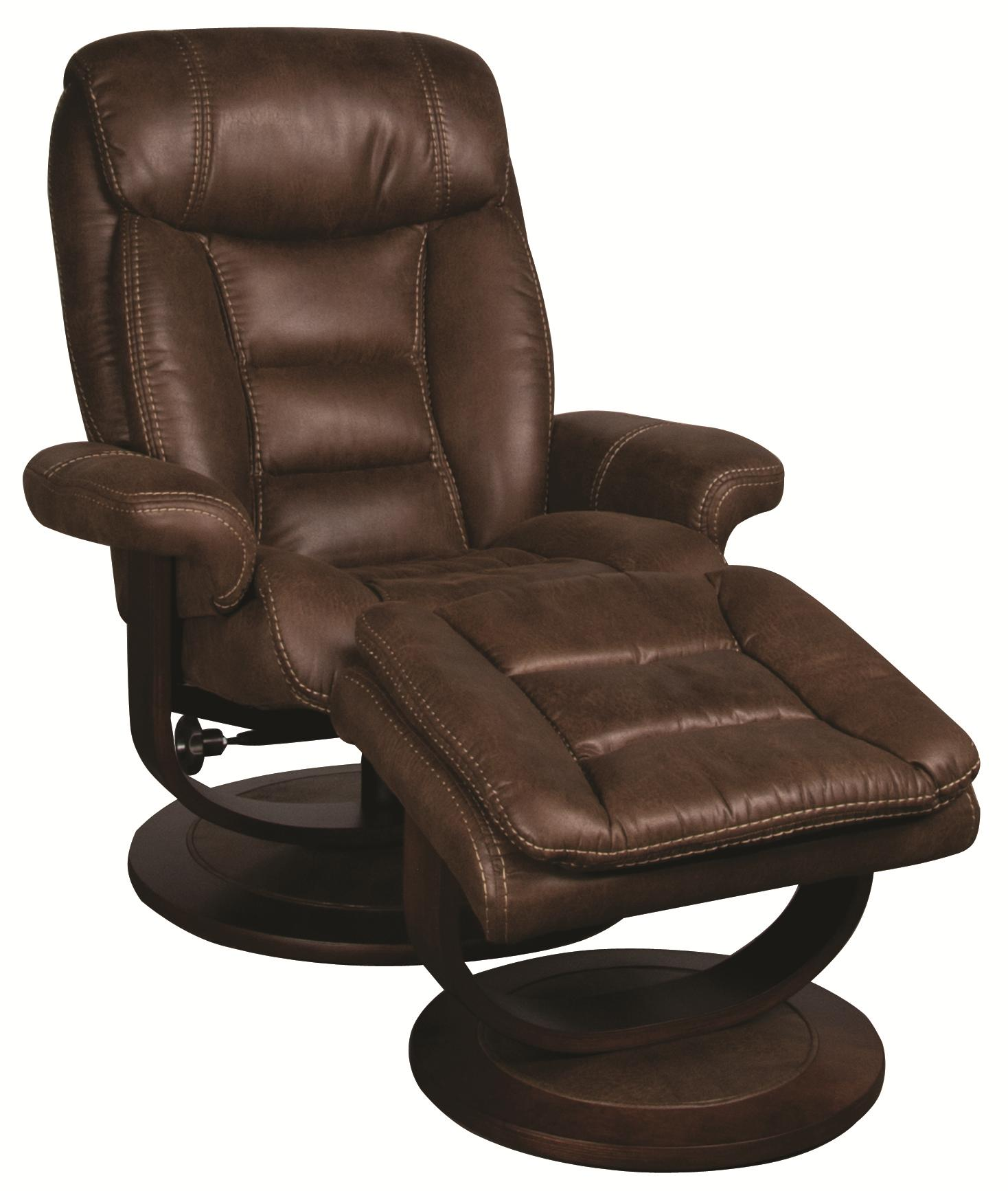 Morris Home Furnishings Manuel Manuel Swivel Recliner with Ottoman - Item Number: 198821502
