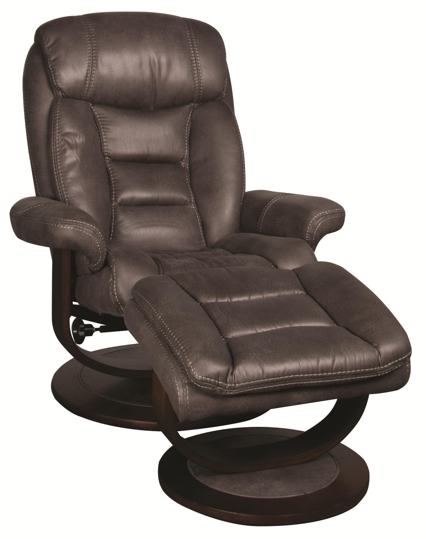 Morris Home Furnishings Manuel Manuel Swivel Recliner with Ottoman - Item Number: 198821542
