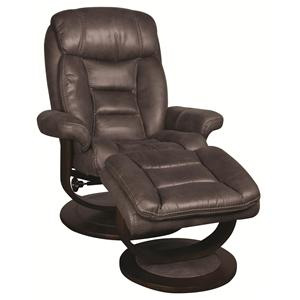 Morris Home Manuel Manuel Swivel Recliner with Ottoman