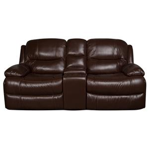 Morris Home Furnishings Patrick Patrick Leather-Match* Dual Glider Reclining