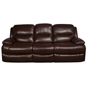 Morris Home Furnishings Patrick Patrick Dual Power Leather-Match* Sofa