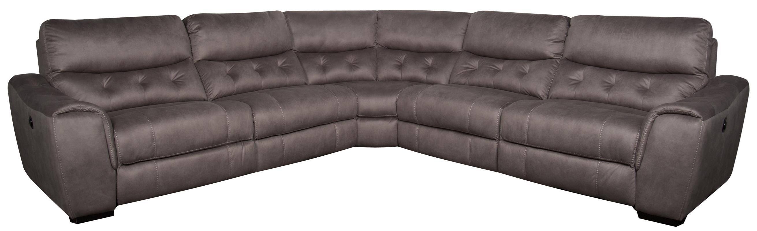 Morris Home Furnishings Reese  Reese 5-Piece Power Sectional - Item Number: 134123903