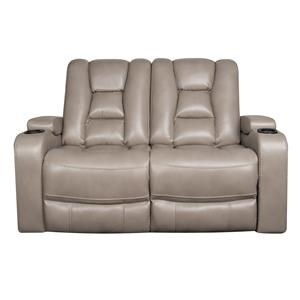 Morris Home Furnishings Rhinehart Rhinehart Dual Power Reclining Loveseat