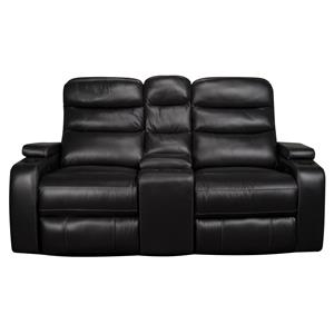 Morris Home Robert  Robert Dual Power Leather-Match* Loveseat