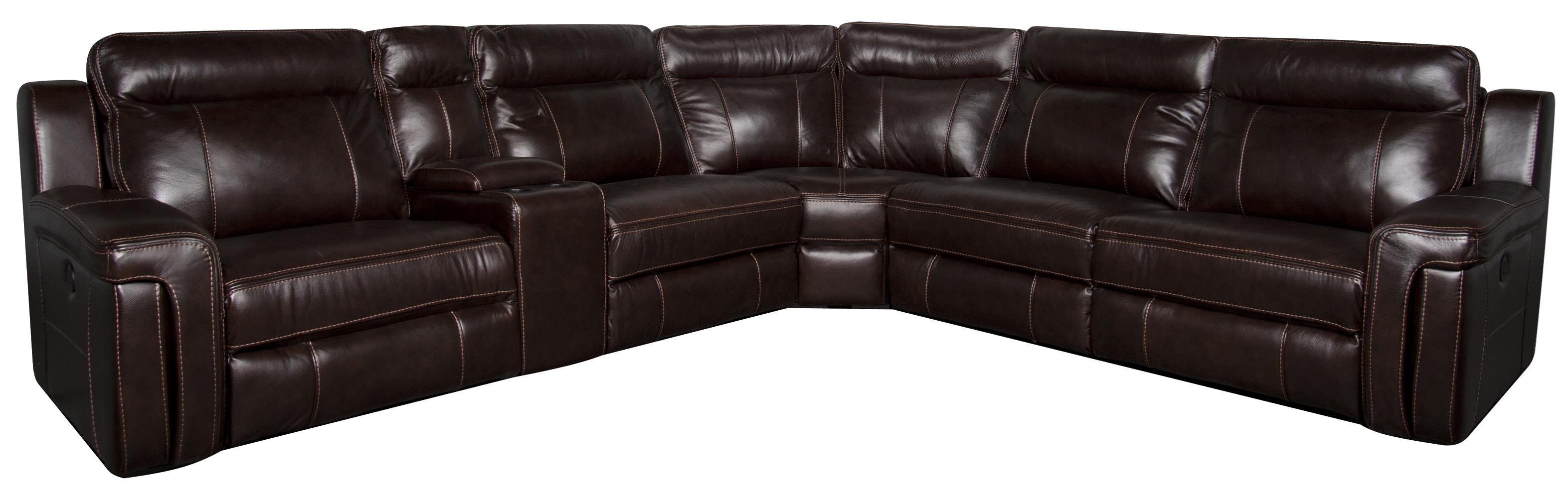 Morris Home Furnishings Roddrick Roddrick 6- Piece Leather-Match*  Power Sect - Item Number: 134851577