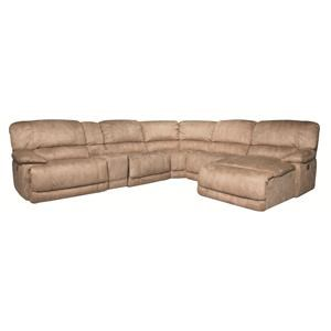 Morris Home Furnishings Sandra Sandra 6-Piece Power Sectional in Stone