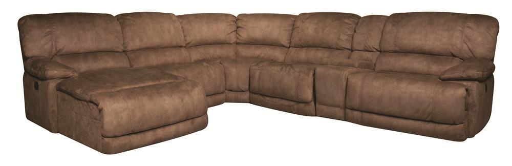 Morris Home Sandra Sandra 6-Piece Power Reclining Sectional - Item Number: 134032060