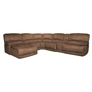 Morris Home Sandra Sandra 6-Piece Power Reclining Sectional