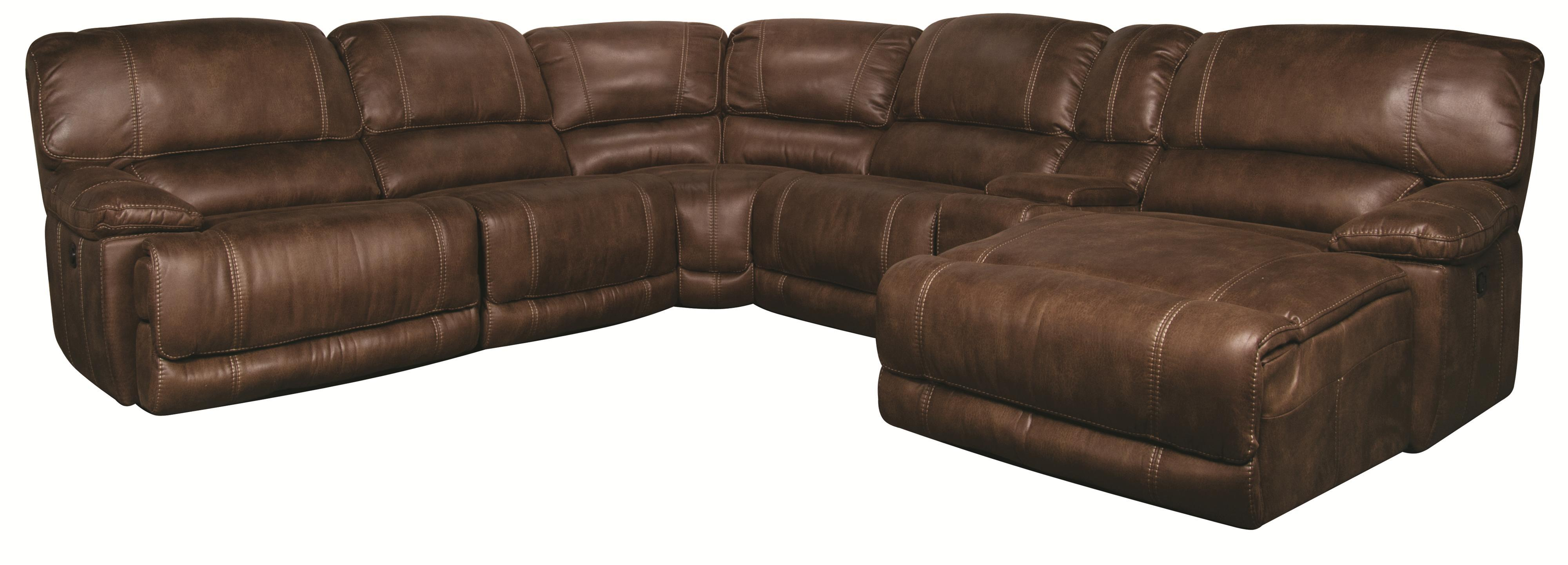 Morris Home Furnishings Sandra Sandra 6-Piece Power Sectional - Item Number: 134032084