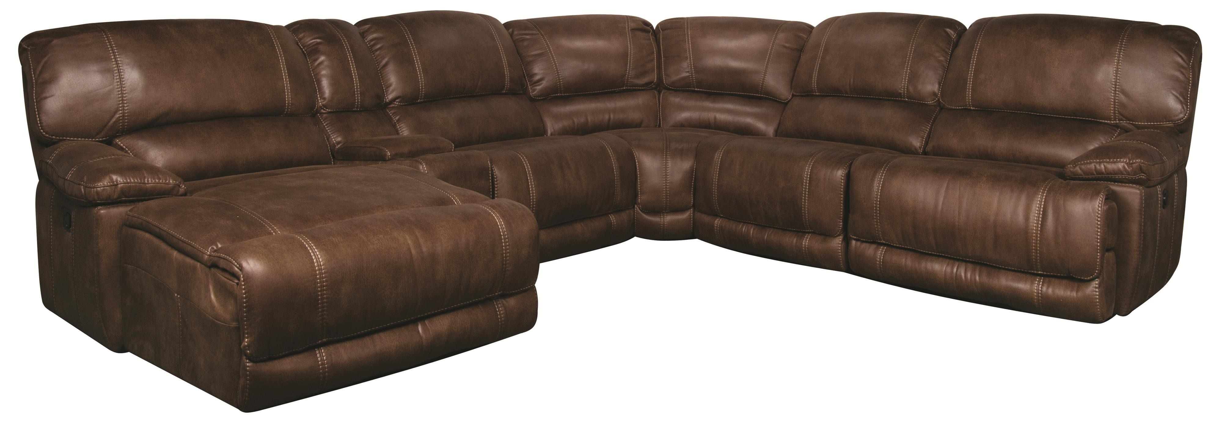 Morris Home Sandra Sandra 6-Piece Power Reclining Sectional - Item Number: 134032462