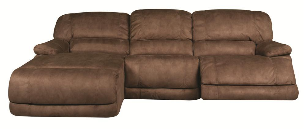 Morris Home Sandra Sandra 3-Piece Power Reclining Sectional - Item Number: 134864903