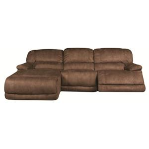 Morris Home Furnishings Sandra Sandra 3-Piece Power Reclining Sectional