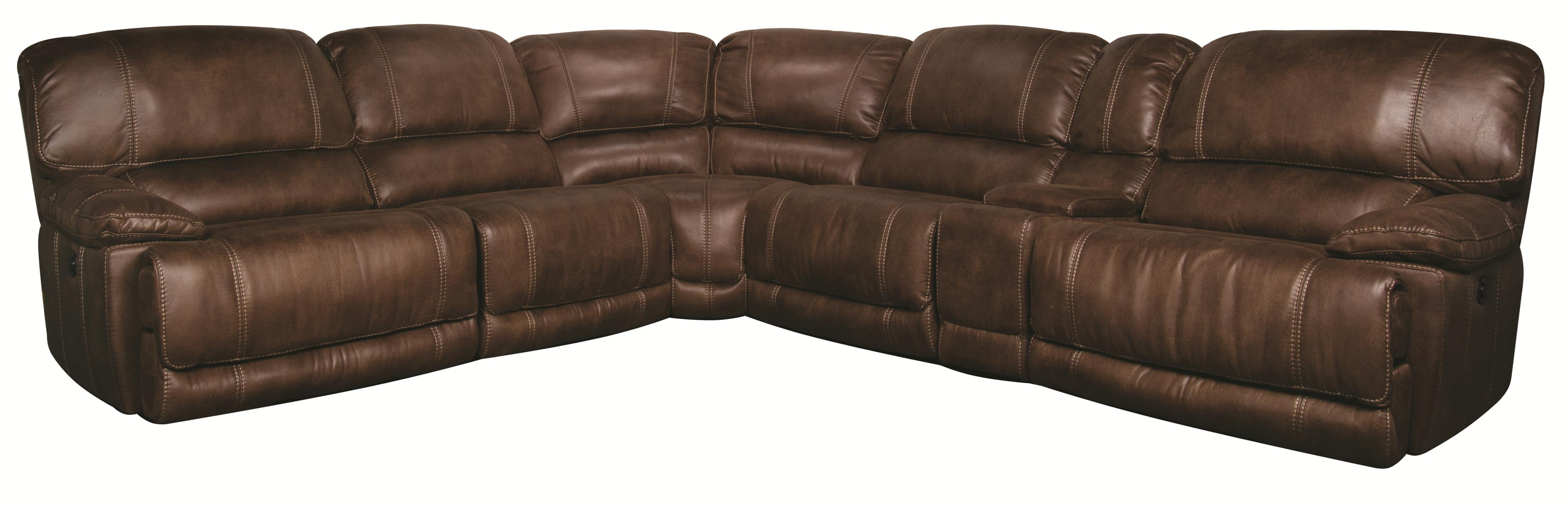 Morris Home Furnishings Sandra Sandra 6-Piece Power Sectional  - Item Number: 555555555555555555