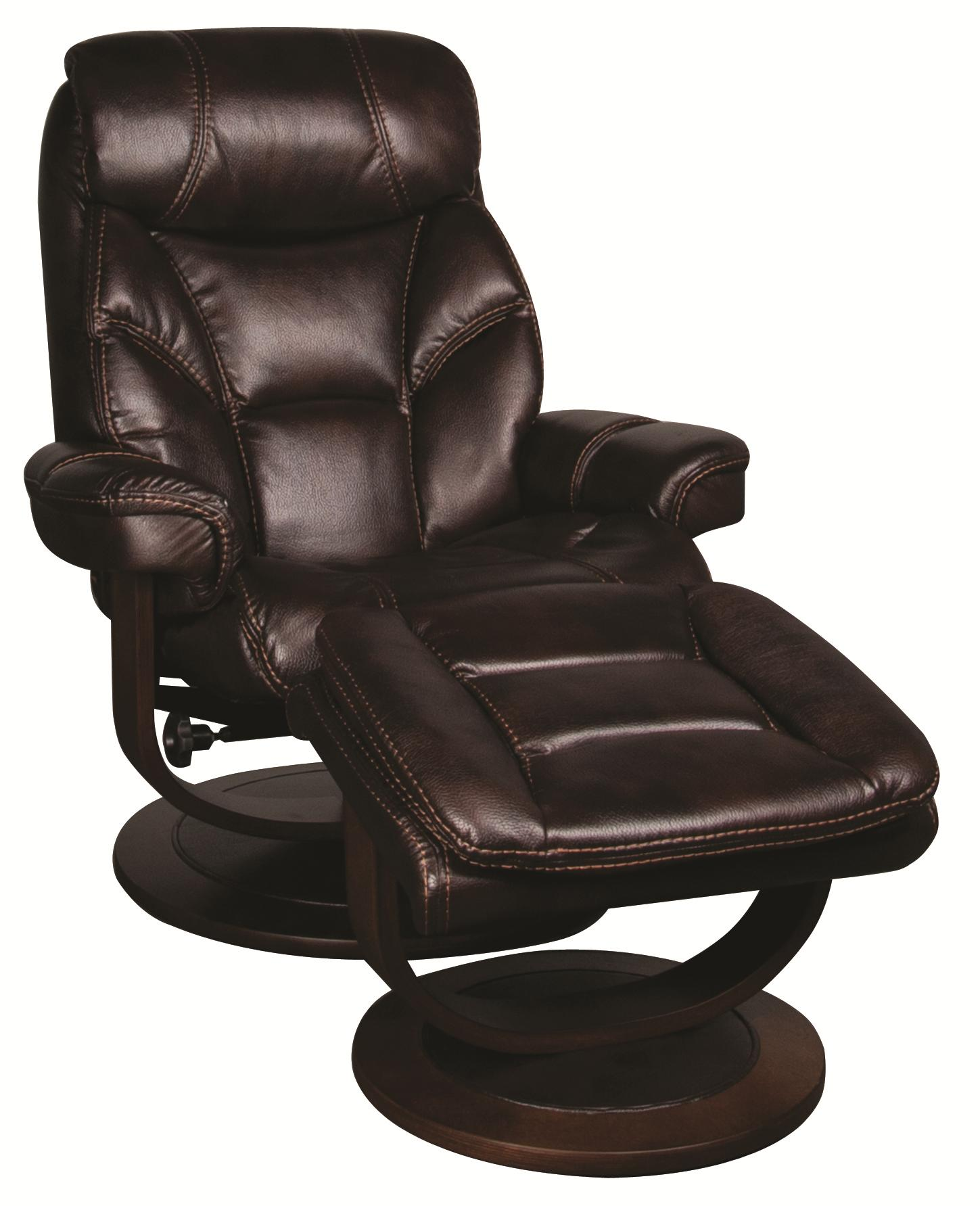 Saul Saul Swivel Recliner with Ottoman Morris Home Reclining