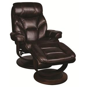 Morris Home Furnishings Saul Saul Swivel Recliner with Ottoman