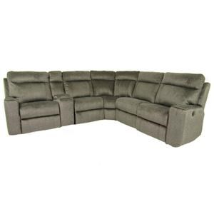 LEATHER IN MOTION Leather In Motion Reclining Sectional