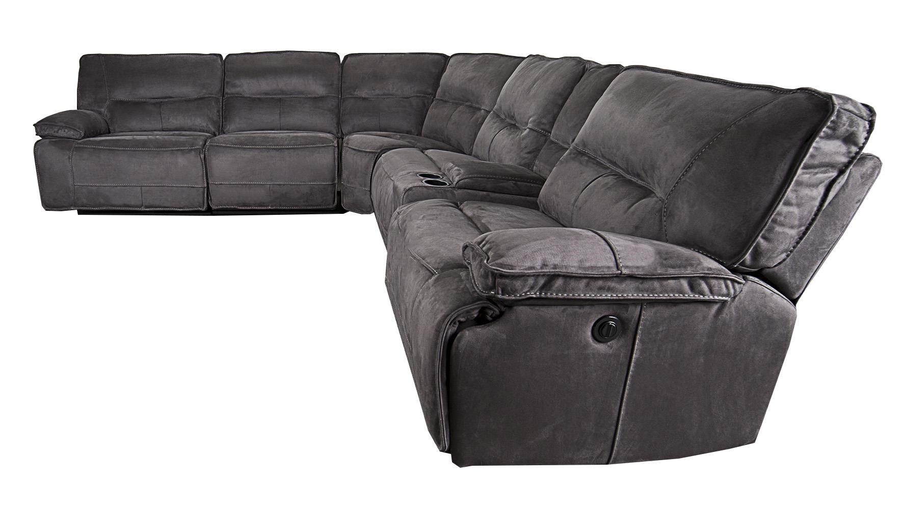 Morris Home Theodore Theodore 6-Piece Pella suede Power Reclining - Item Number: 134844997
