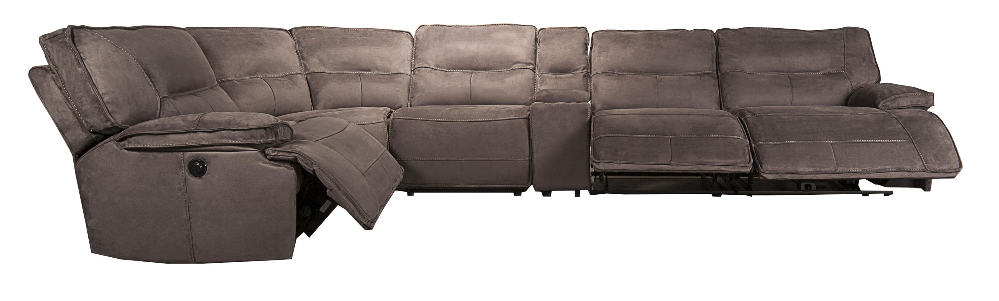 Morris Home Furnishings Theodore Theodore 6-Piece Pella suede Power Reclining - Item Number: 134844997