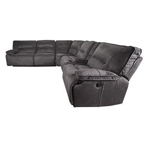Morris Home Furnishings Theodore Theodore 6-Piece Pella suede Power Reclining