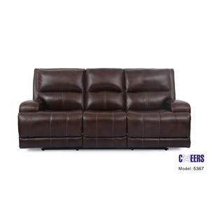 Triple Play Leather Sofa