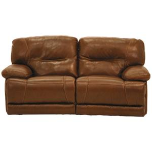 Cheers UX8557M Casual Reclining Leather Loveseat