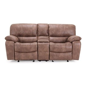 Cheers Sofa UX8625M Glider Reclining Loveseat with Console