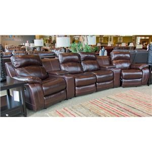 Luke Leather 4 Seat Reclining Theater Sectio