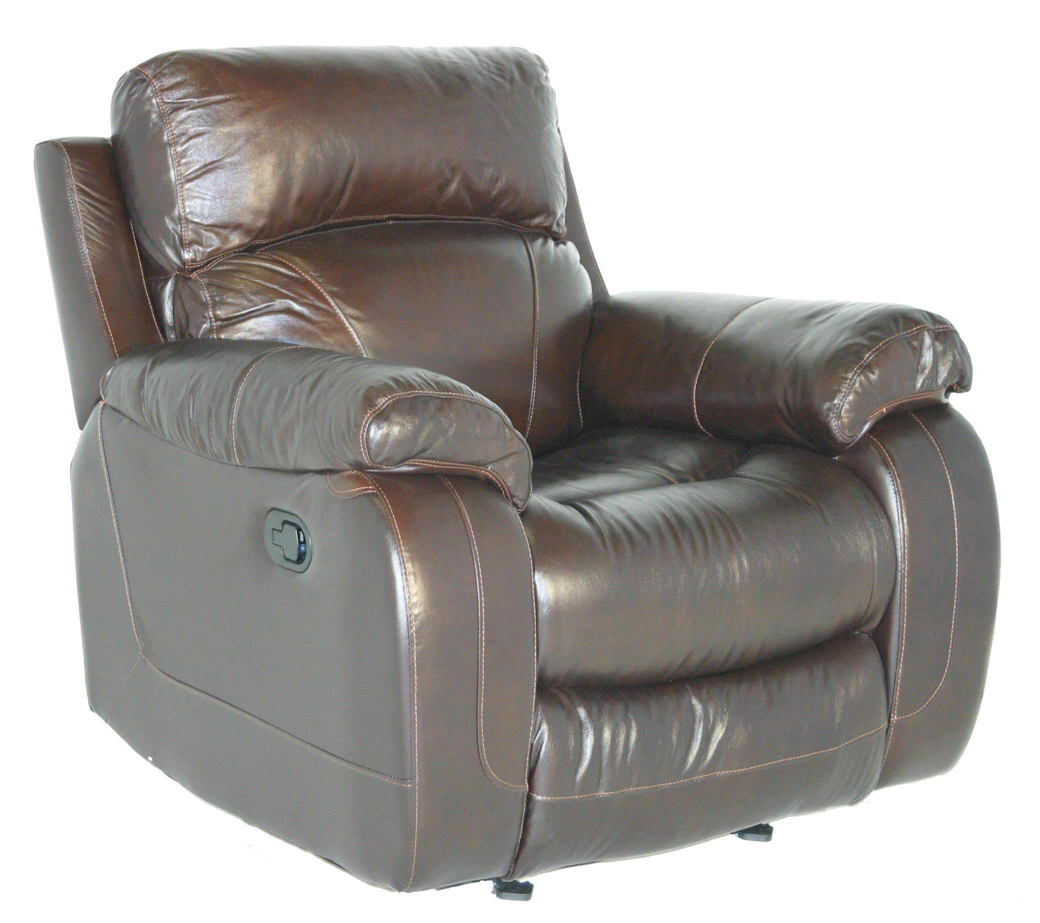 Cheers Sofa Luke Leather Glider Recliner Great American Home