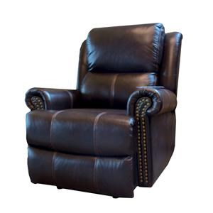 Cheers Sofa Brooks Brooks Pwr Lthr Recliner w/Pwr Headrest