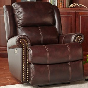 Cheers Sofa Brooks Pwr Recliner w/Pwr Headrest
