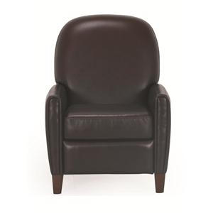 Cheers Sofa Uk636 Contemporary Leather Chair with Curved Back