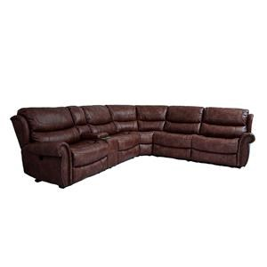 Cheers Sofa UWX1012 Tobacco 6 Piece Power Reclining Sectional