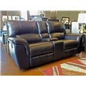 Cheers Sofa Brandy Leather Reclining Console Loveseat - Item Number: GRP-UX1023-BRANDY-LOVESEAT