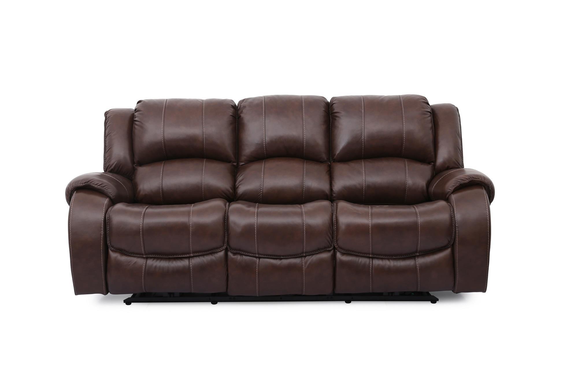 Brown Lthr Pwr Reclining Sofa w/Pwr Head