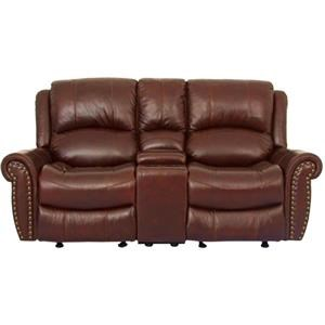 Cheers Sofa UXW9888 Saddle Leather Reclining Loveseat