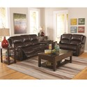 Cheers Sofa UXW9888M Power Reclining Loveseat with Nailhead