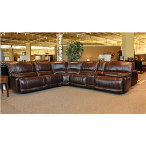 Cheers Sofa X8698M Leather 6 Piece Reclining Sectional