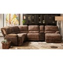 Cheers X8706M Power Reclining Sectional with Chaise - Item Number: X8706M-AL+D15+C+D15E+HCE+TR 25491
