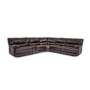 Collins Leather Power Reclining 6 Piece Sect