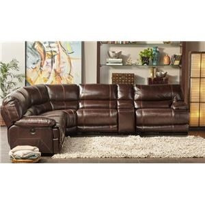 Cheers Sofa Collins Leather Pwr Reclining Sectional