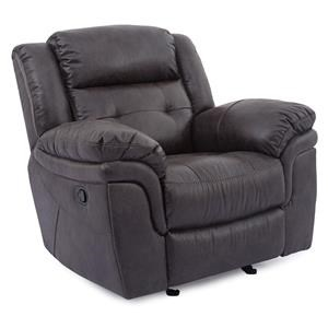 Cheers Sofa XW5156M Glider Recliner with Pillow Arms