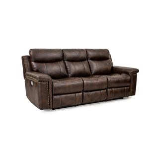 Cheers Sofa Phoenix Leather Pwr Recl Sofa w/Pwr Foot & Head